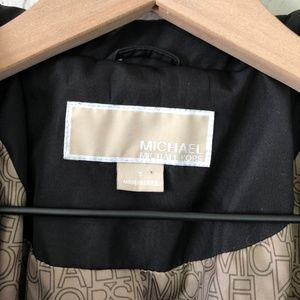Michael Kors Jackets & Coats - Michael Kors Black Rain Coat Gold Hardware